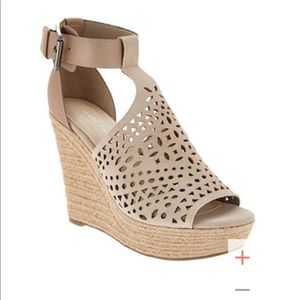 Marc Fisher Nude Espadrille Wedges